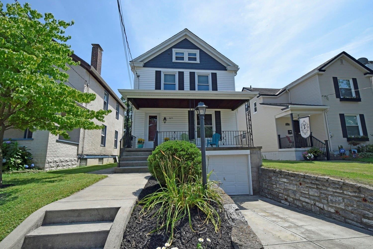 Located in heart of Oakley, steps to shops & restaurants.  Meticulously updated:  newer roof & windows, 2 HVACs + smart thermostats, wired for sound & internet, SS appliances, 1st floor laundry, master bedroom walk in closet w/premium shelving, garage & off street parking, 3rd floor finished bonus room.