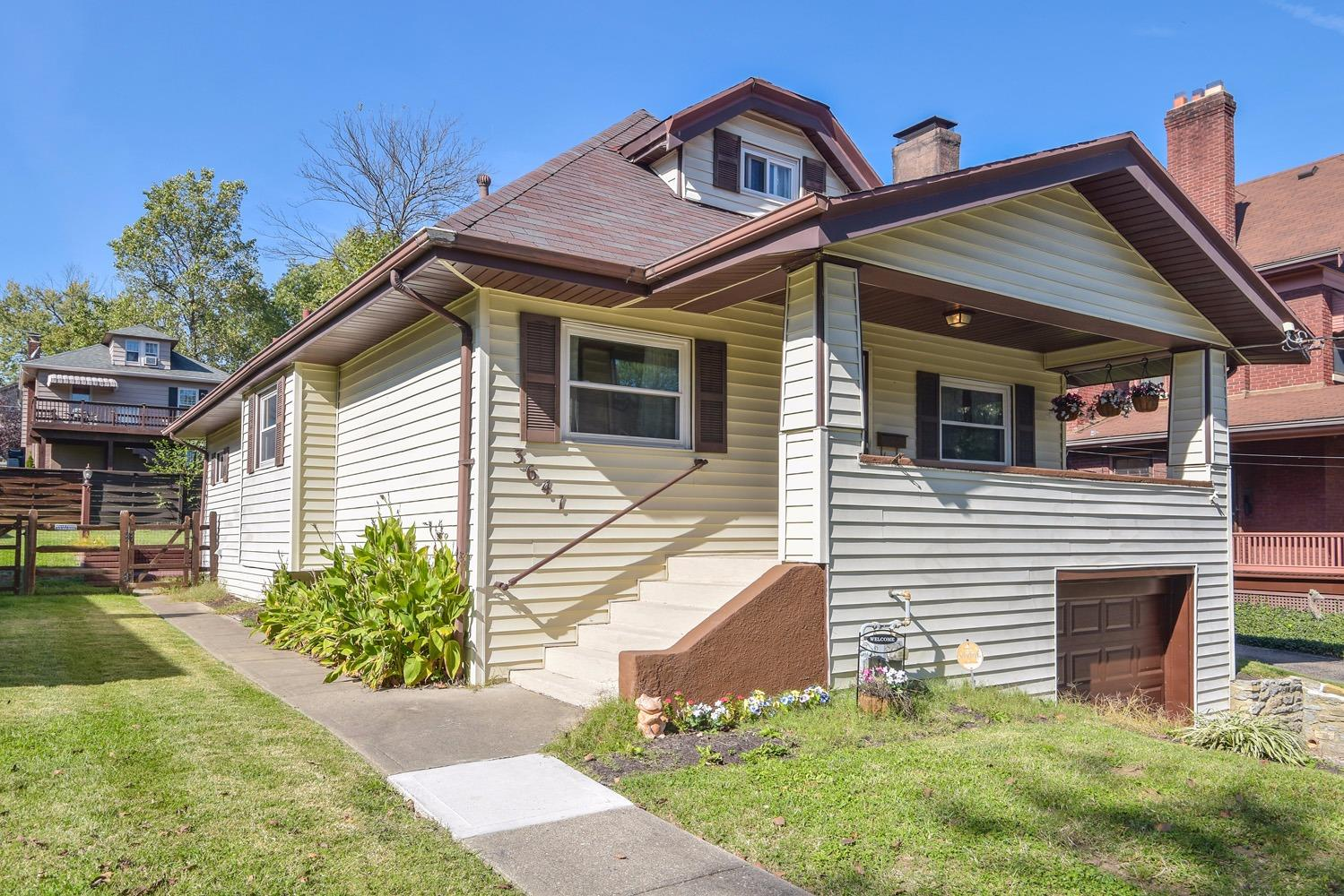 Excellent location in East Hyde Park. This charming Cape Cod has been well cared for & nicely updated. Amenities include 3 bedrooms, 2 full bathrooms, updated kitchen, wood deck, fenced back yard, & 1 car garage.  From this location you are less than a half mile to restaurants & pubs, 10 mins to I-71 & Columbia Parkway.
