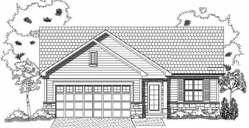 New Construction by St. John Designs, LTD. The Maera is a ranch style home (1810 s.f) featuring 3 BR, 3 Full baths, Family room, Great room, Dining room, 1st Floor laundry and a gas Fireplace. Other amenities: C/A, Hi-Eff Furnace, 2 car garage w/opener, Patio and 10 year Tax Abatement.