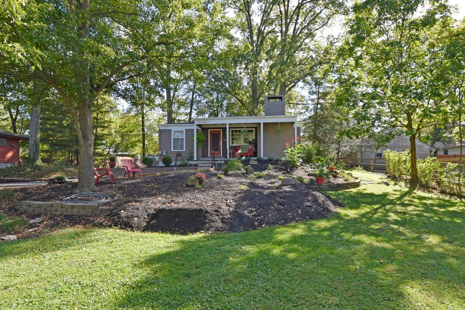 A must see to appreciate this Mid Century Modern Bungalow Ranch. 3 bedrooms, study, 2.5 baths, open floor plan. Completely updated kitchen. Private backyard/entertainment area with mature trees. Large LL ideal for exercise room, work/study space.  Many updates while maintaining vintage features.