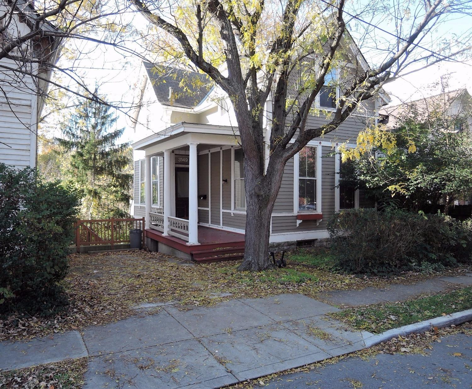 1 Block to UC. Charming Traditional backing up to Burnet Woods, overlooking lake when leaves are off trees.