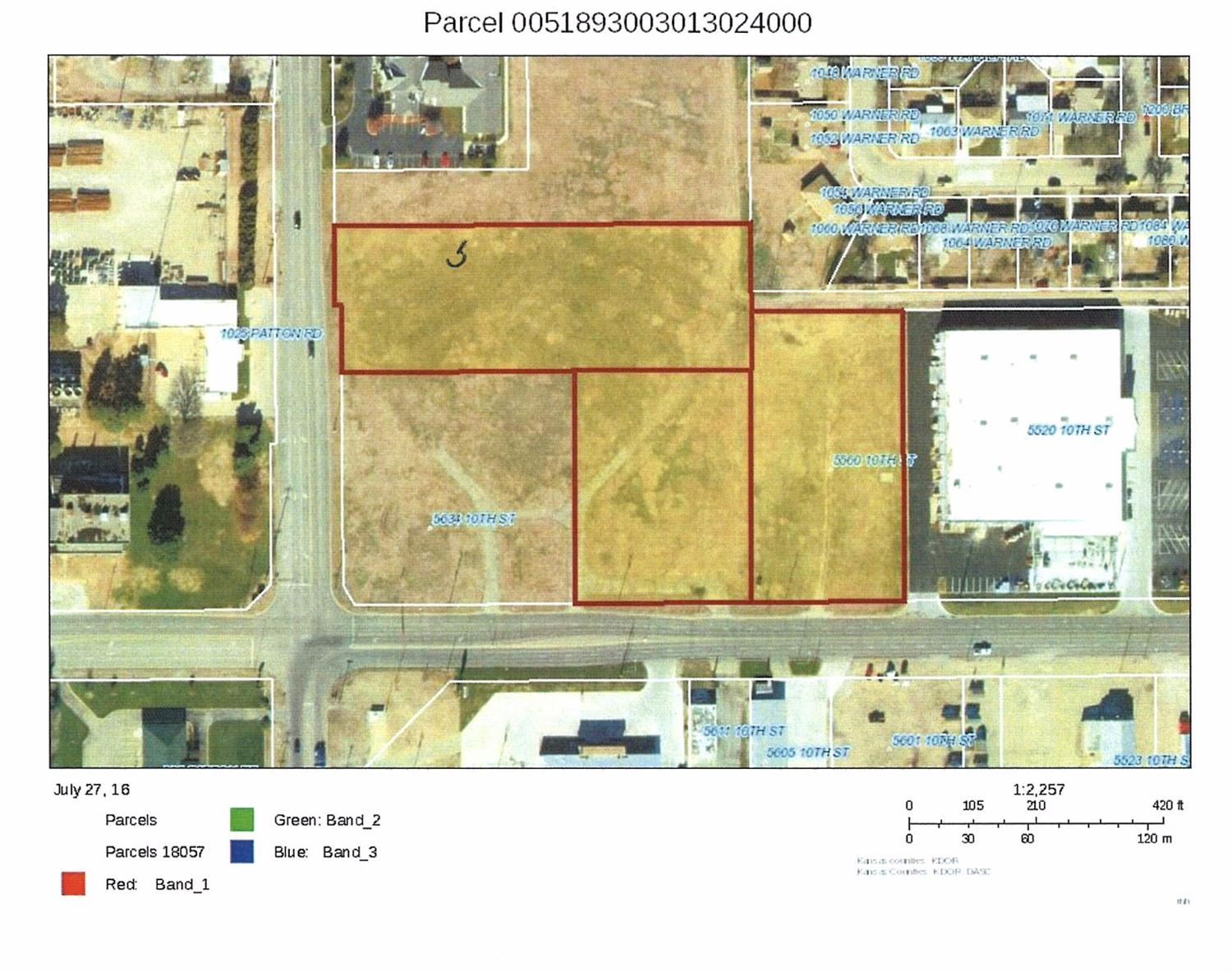 3 Parcels totaling 245,240 sq. ft. Can separate - all vacant lots.