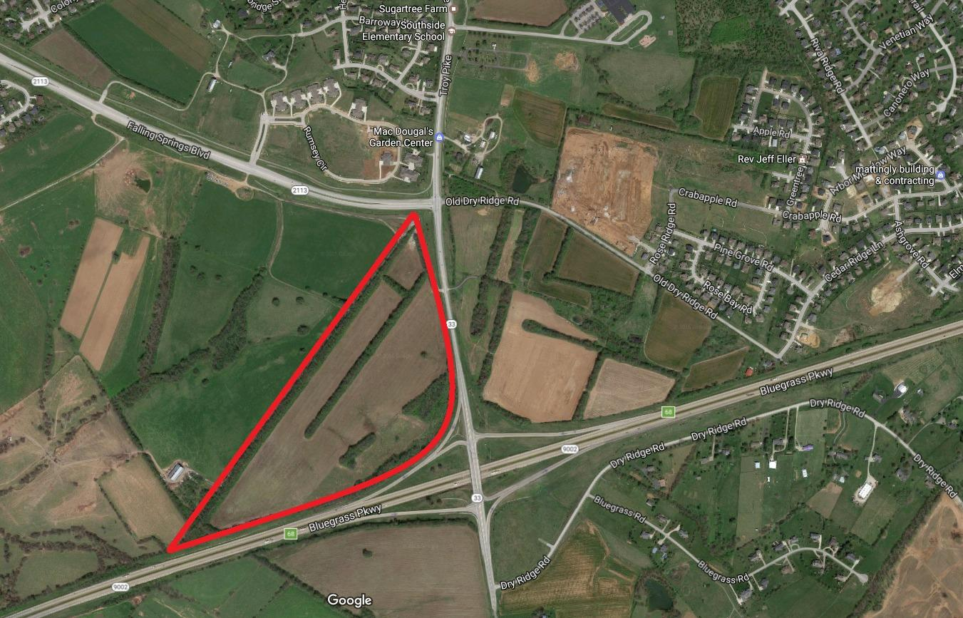 57%20acres%20for%20sale,%20great%20location%20at%20intersection%20of%20Bluegrass%20Parkway%20and%20Rt.33%20in%20Versailles.%20Land%20is%20zoned%20B-5%20(Highway%20Interchange%20Service%20Business)%20which%20allows%20for%20a%20wide%20variety%20of%20uses%20including%20Hotels,%20Restaurants,%20C-Stores,%20Retail%20and%20Office.