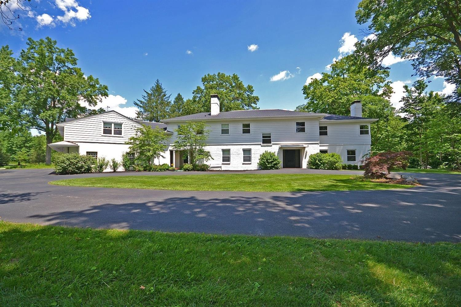 At 9163sq ft this home lives large*Private 2.3 acres w/flat lawns/superb landscaping*Built to exacting standards in 1948 w/exceptional architectural details*Open floor-plan*All rooms are large w/windows aplenty*Pool/pool house*New roof & mechanicals & $70K geo-thermal HVAC*Oversized garage*An impeccably maintained family compound for the ages.