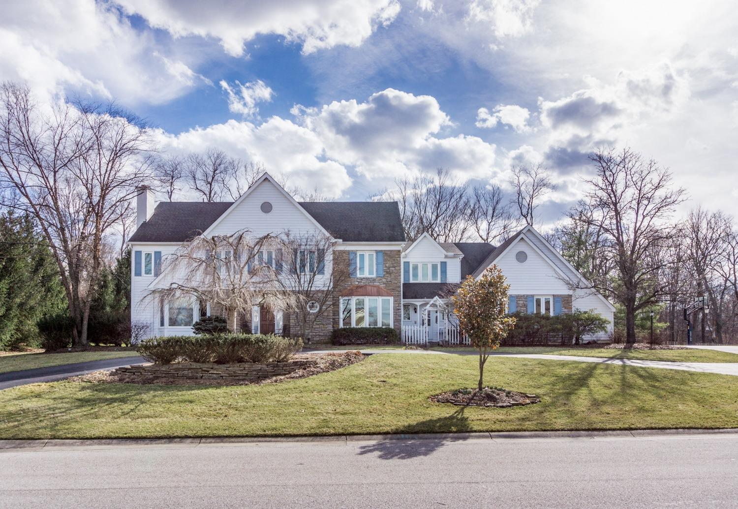 Beautiful executive home in sought after neighborhood! Open floor plan between Kitchen/FR. Gorgeous Study. Great home for entertaining or simply casual & comfortable! Amazing flat backyard complete w/custom waterfall/pond & plenty of room to play! Lower Level could be a Guest Apartment w/kitchenette! Don't miss this! Easy access to Five Mile Trail