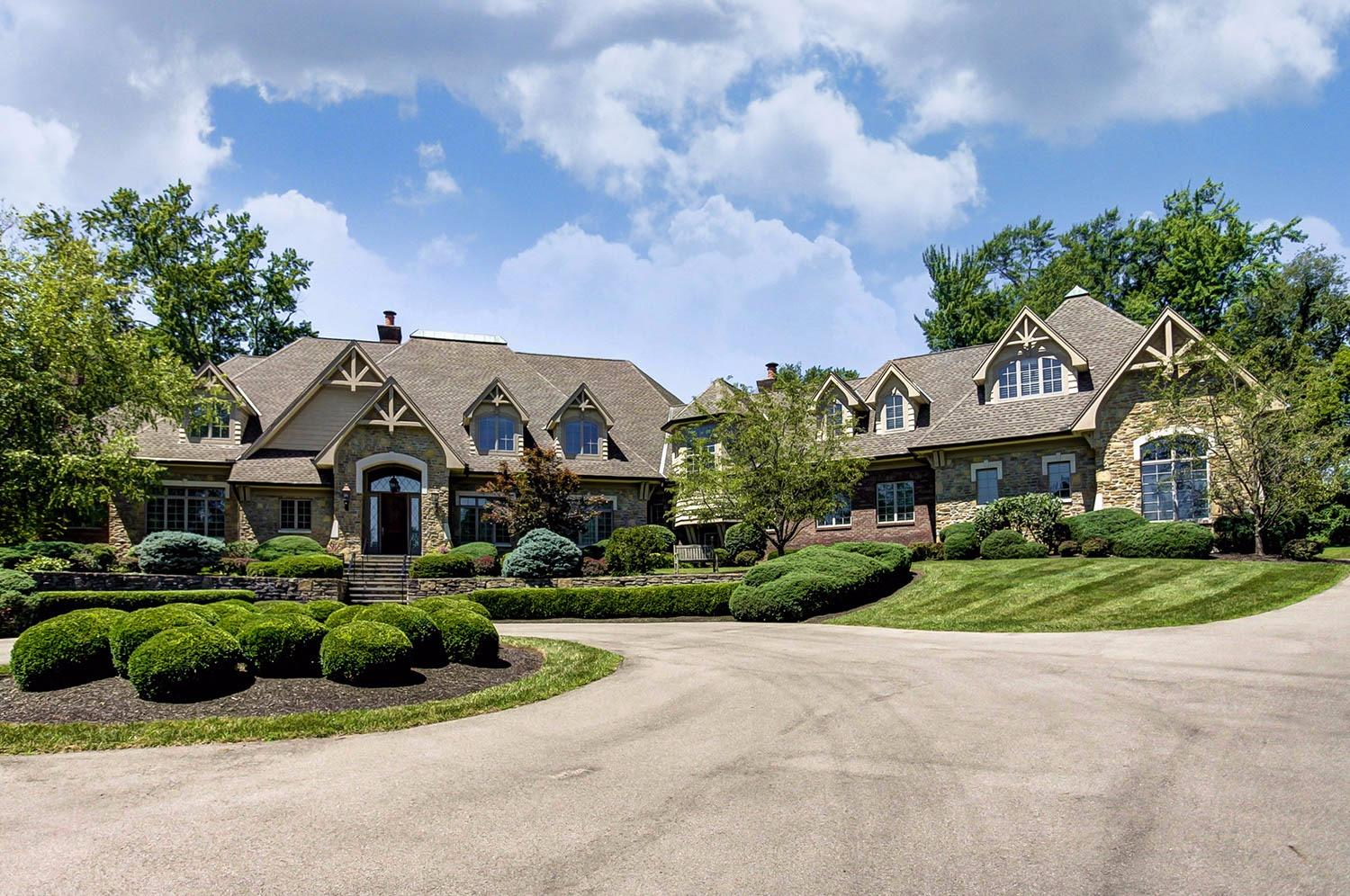 Magnificent French Country Manor. Unmatched construction using the finest materials. Elegant, yet functional, details. An ideal setting. First floor master suite with adjoining luxury bath. Cooks kitchen adjoining family room w/ fireplace and enclosed porch w/ fireplace. 4 car garage w/ extra space for whatever.