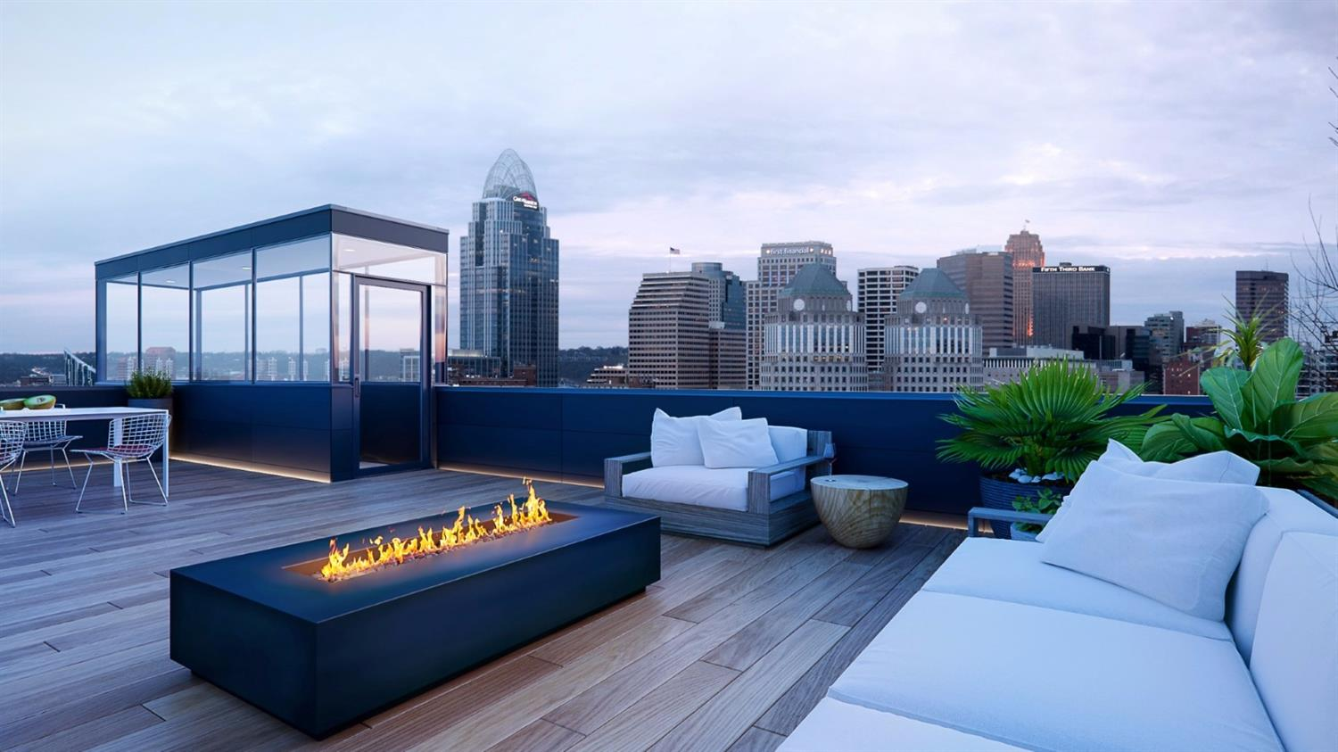 New Construction! 3,100 sqft of beautifully designed luxury living w/an additional 1,600 sqft of unfinished space in this stunning LEED Platinum/Passive House certified Bronzie Design+Build masterpiece. Expansive rooftop deck overlooking  downtown&OTR +an elevator,2car garage,15yr tax abatement,top of the line finishes. Worry free urban living!