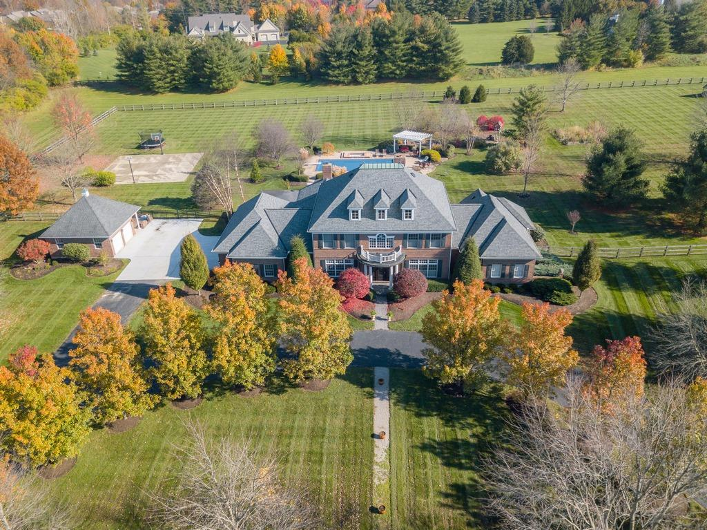 Gorgeous custom home w/the finest materials & detailing thru-out! 5 beautiful acres, newly renovated, open entry, remarkable chef's kitchen w/huge island-open to brkfst & vltd fam rm. 1st flr MBR+gorgeous spa-like BA/2 walk-in closets. 4 BRs up. Fabulous LL rec rm/bar/exerc/theater,BR+BA. Backyard oasis w/20x40 pool+spa,b-ball crt, 6 car gar!