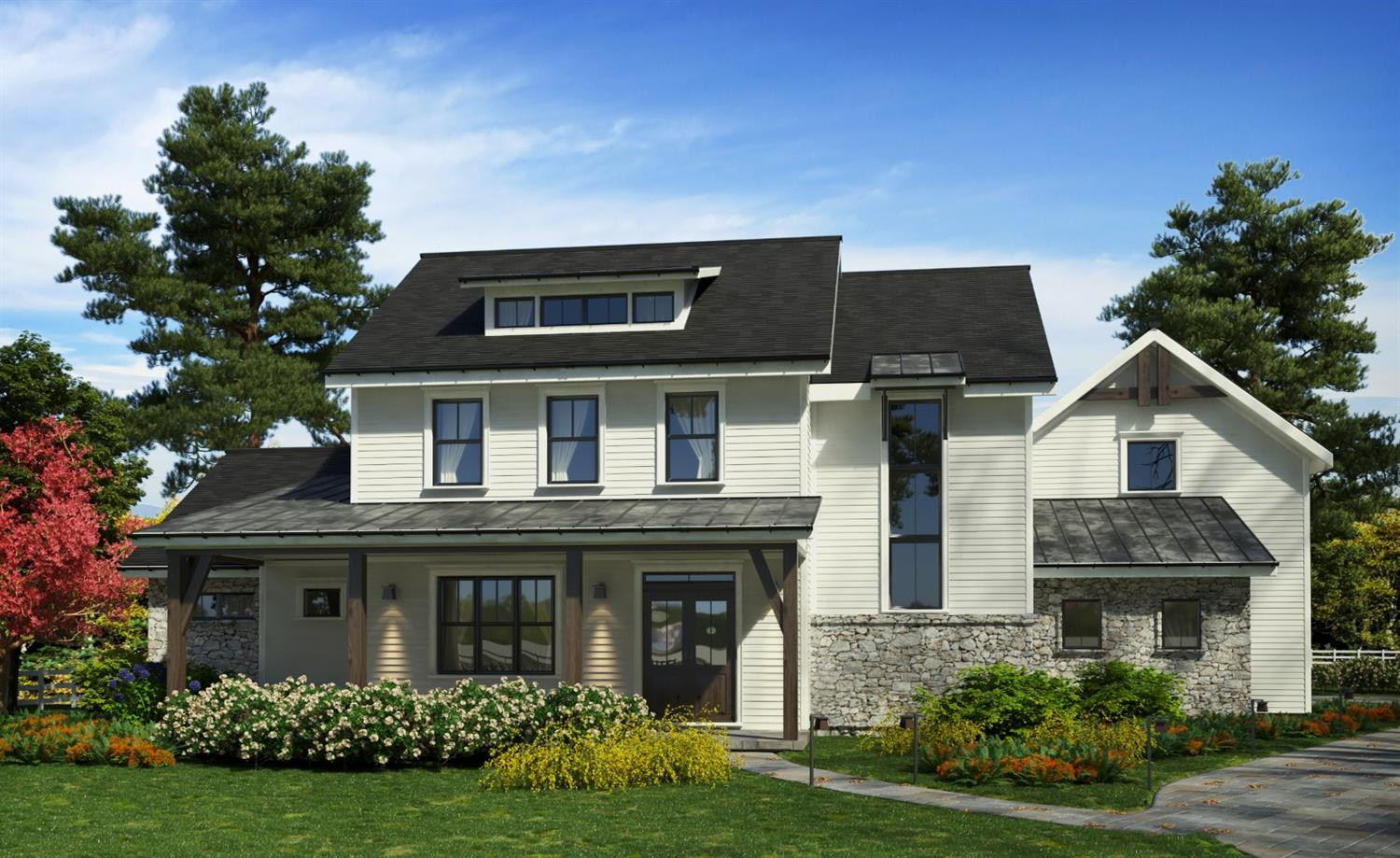 HOMEARAMA 2018!The Sterling Twist on Modern Farm House Living w/ attention to EVERY detail! 6500 Ft. carefully crafted 1st flr mstr home featuring striking window wall, brick interior accents, open & airy kitchen and massive covered and uncovered veranda! Finished basement w/ bar, private 1161 ft. guest suite above garage, 3 car garage, cul-de-sac.