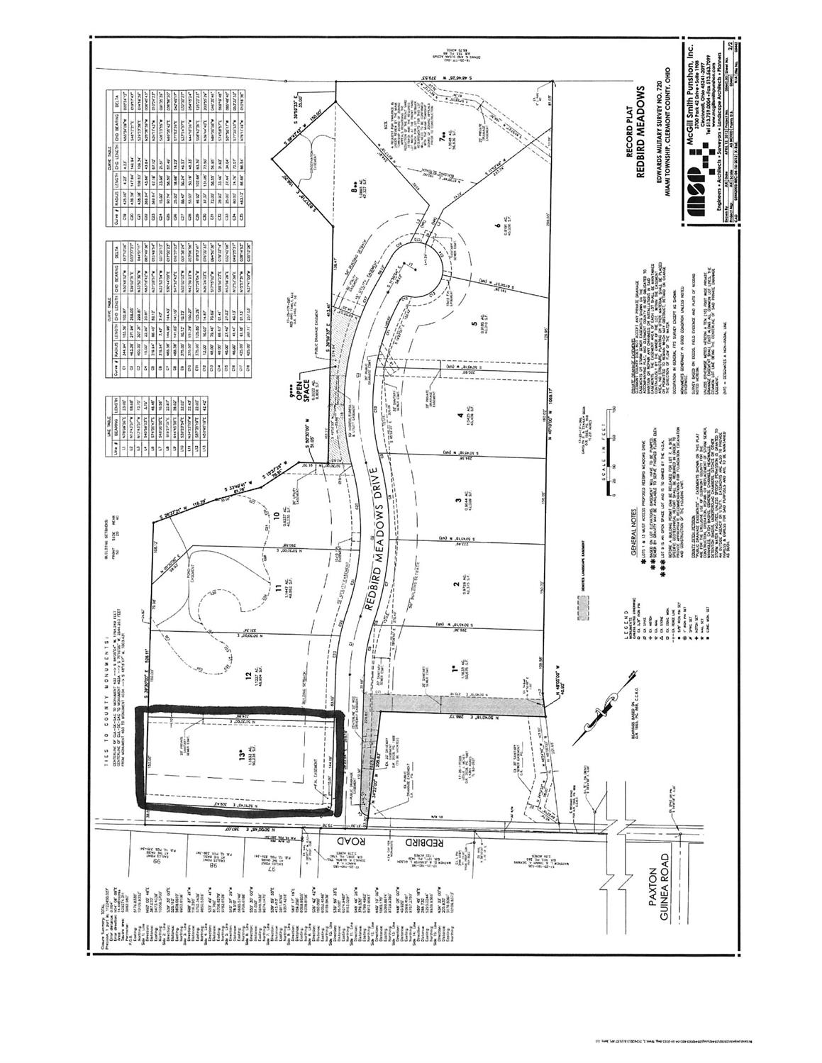 Property for sale at 13 Redbird Meadows, Miami Twp,  OH 45140