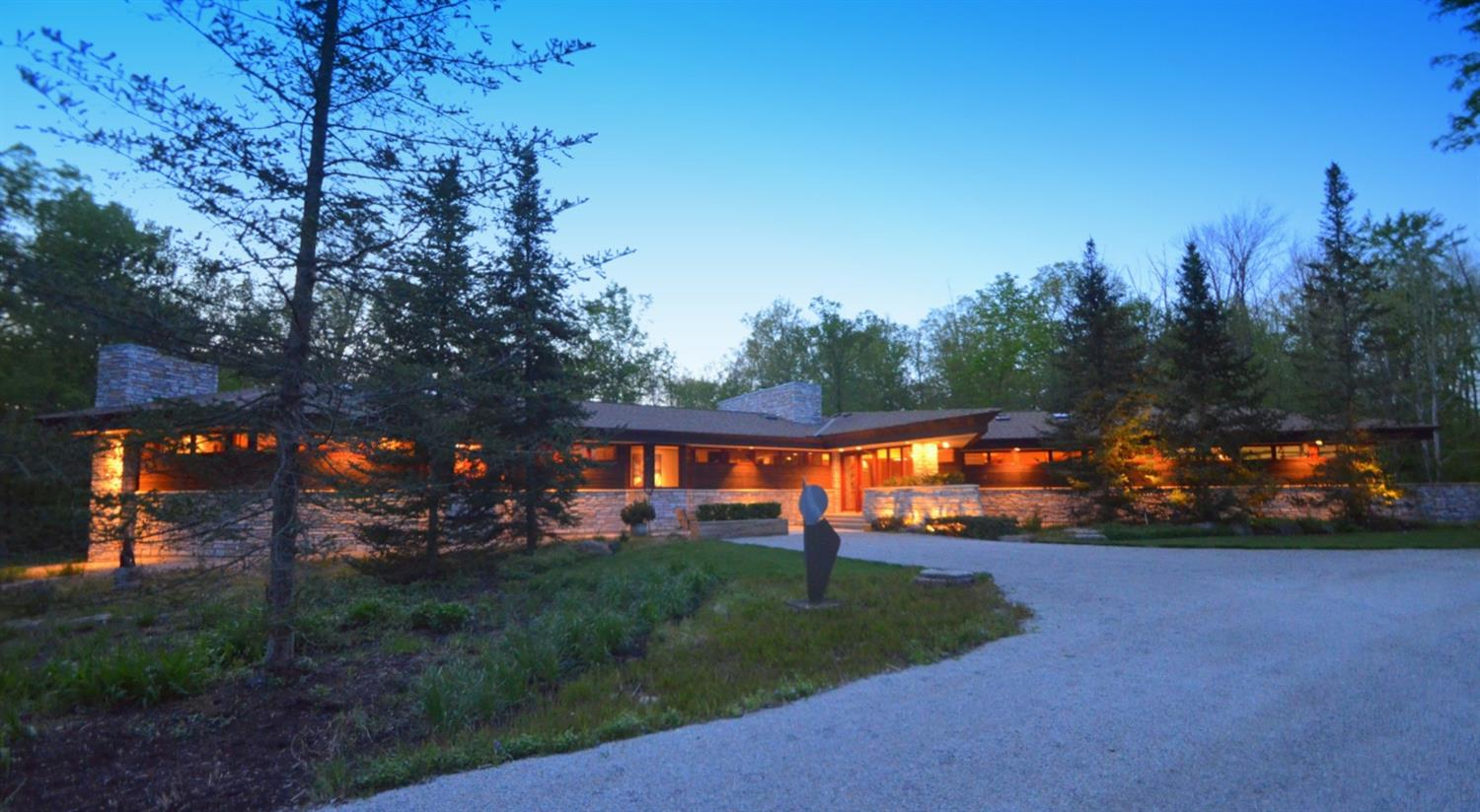 Once in a lifetime opportunity to live in an extremely functional piece of art!  The perfect intersection of nature and architecture.  The home is located in the most secluded lot in Timberwood Lake, a small neighborhood of 30 homes that range from $500,ooo to $1.2 Million. The community includes access to a 6-acre lake stocked with bass, striped bass, bluegill and catfish.