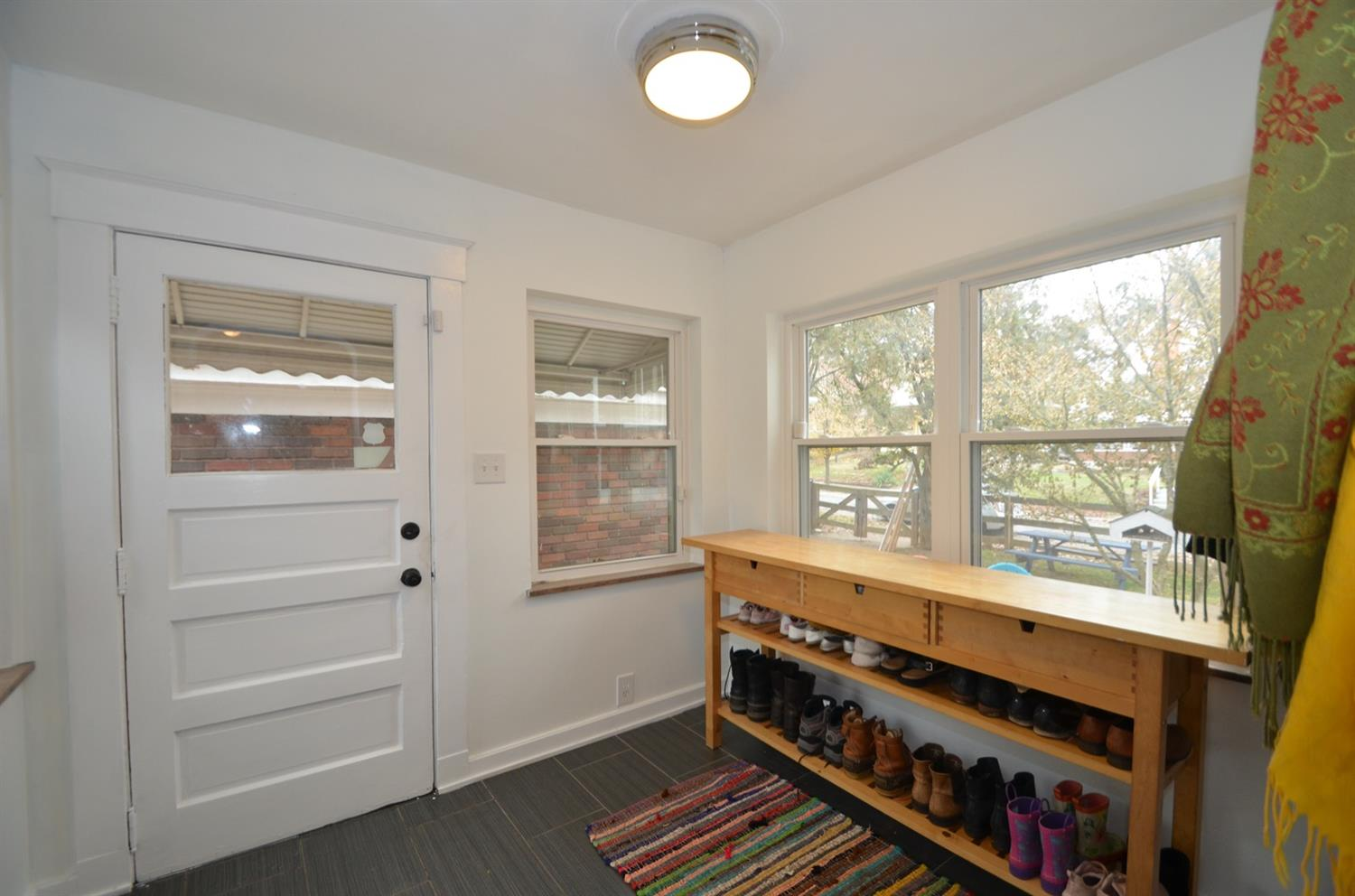 Mudroom at the back of the house is a great entry point jus off of the garage and driveway.