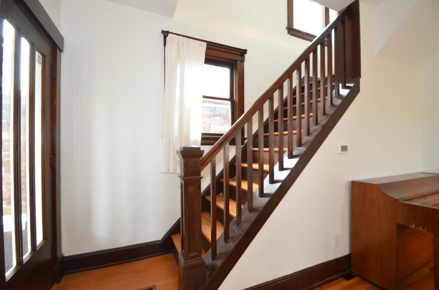 Look at this great Craftsman style staircase.  No faux revival here.  This is the real deal.