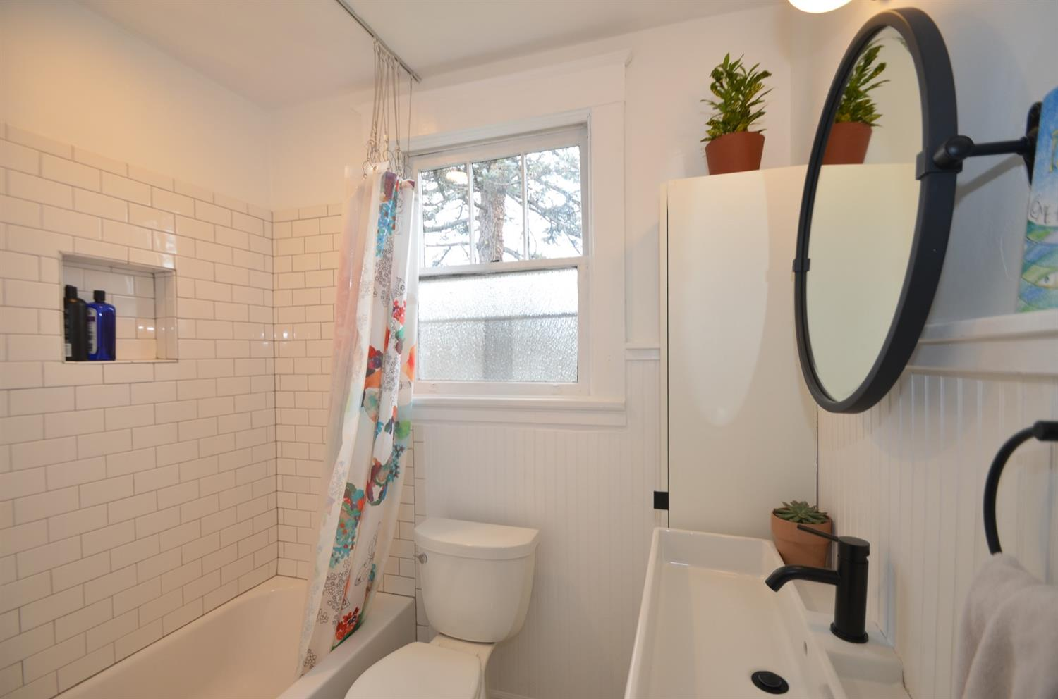 Second floor master bath is nicely updated.