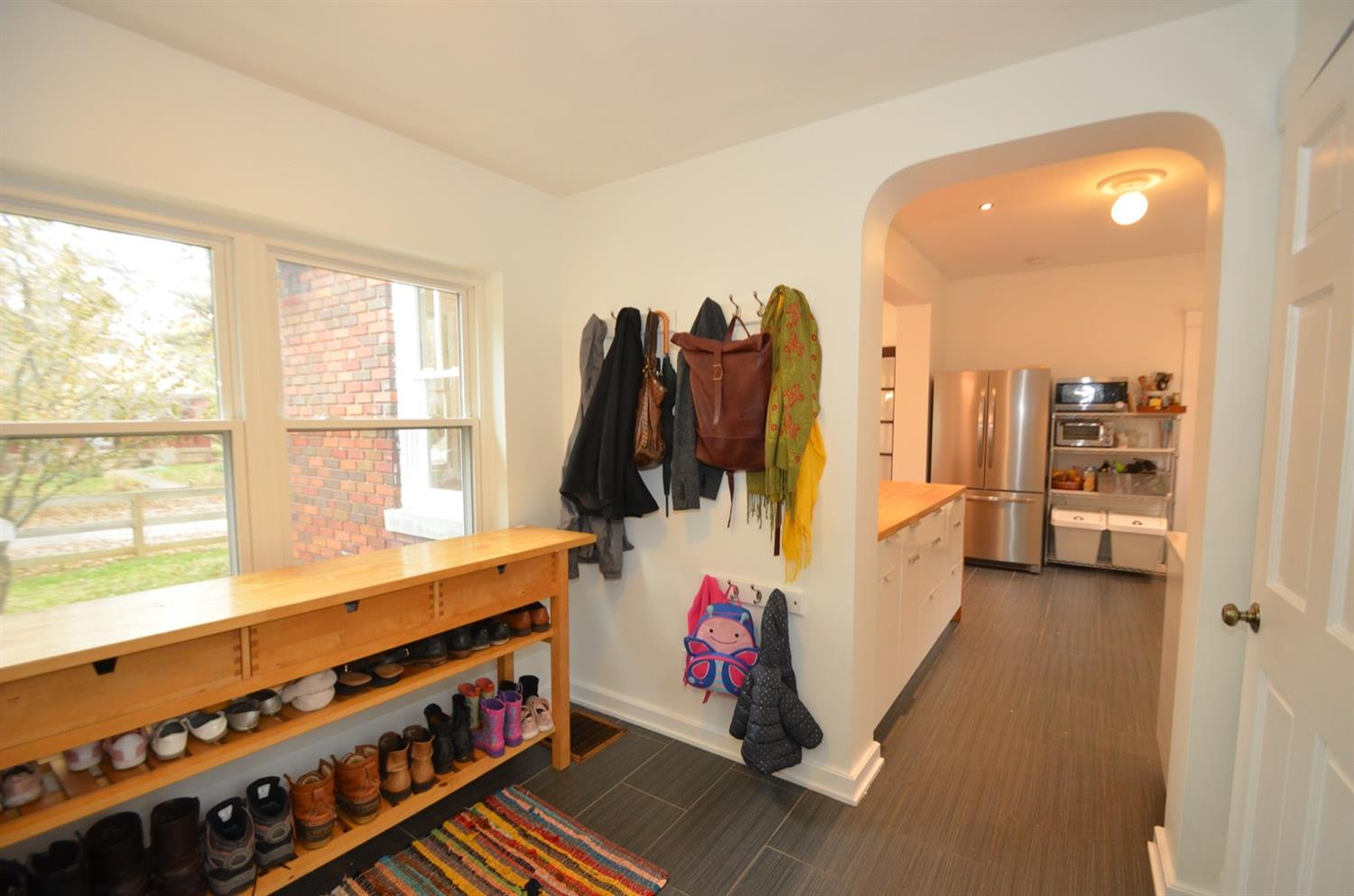 Another view of the mudroom and proximity to the kitchen. Nice!