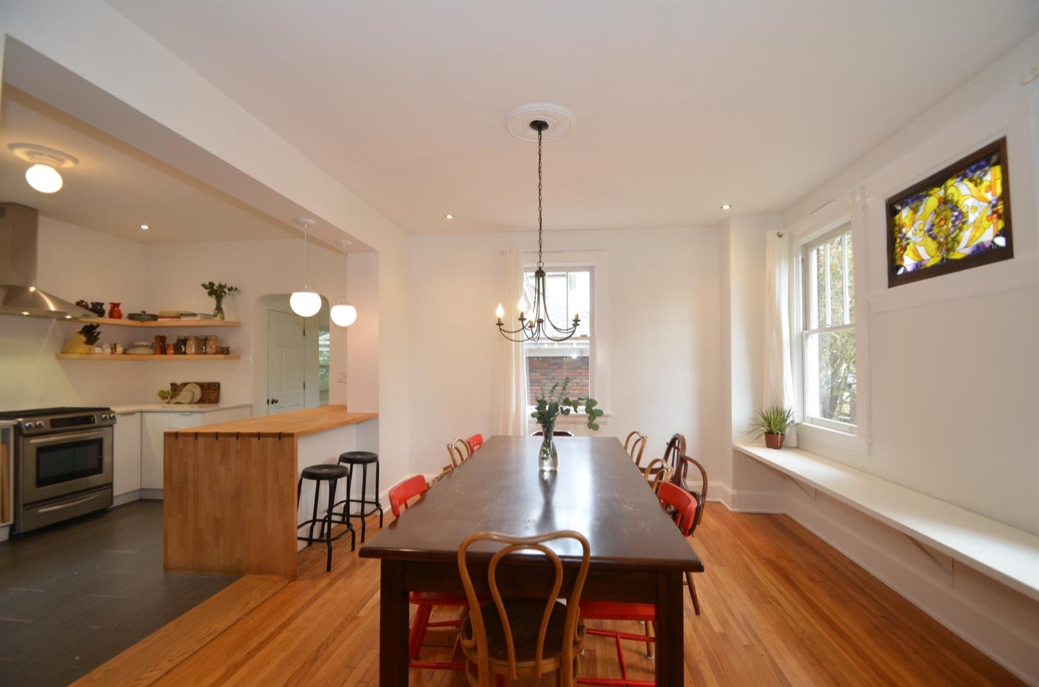 Oversized dining room opens right into the gourmet kitchen.  The perfect cooking and entertaining space!