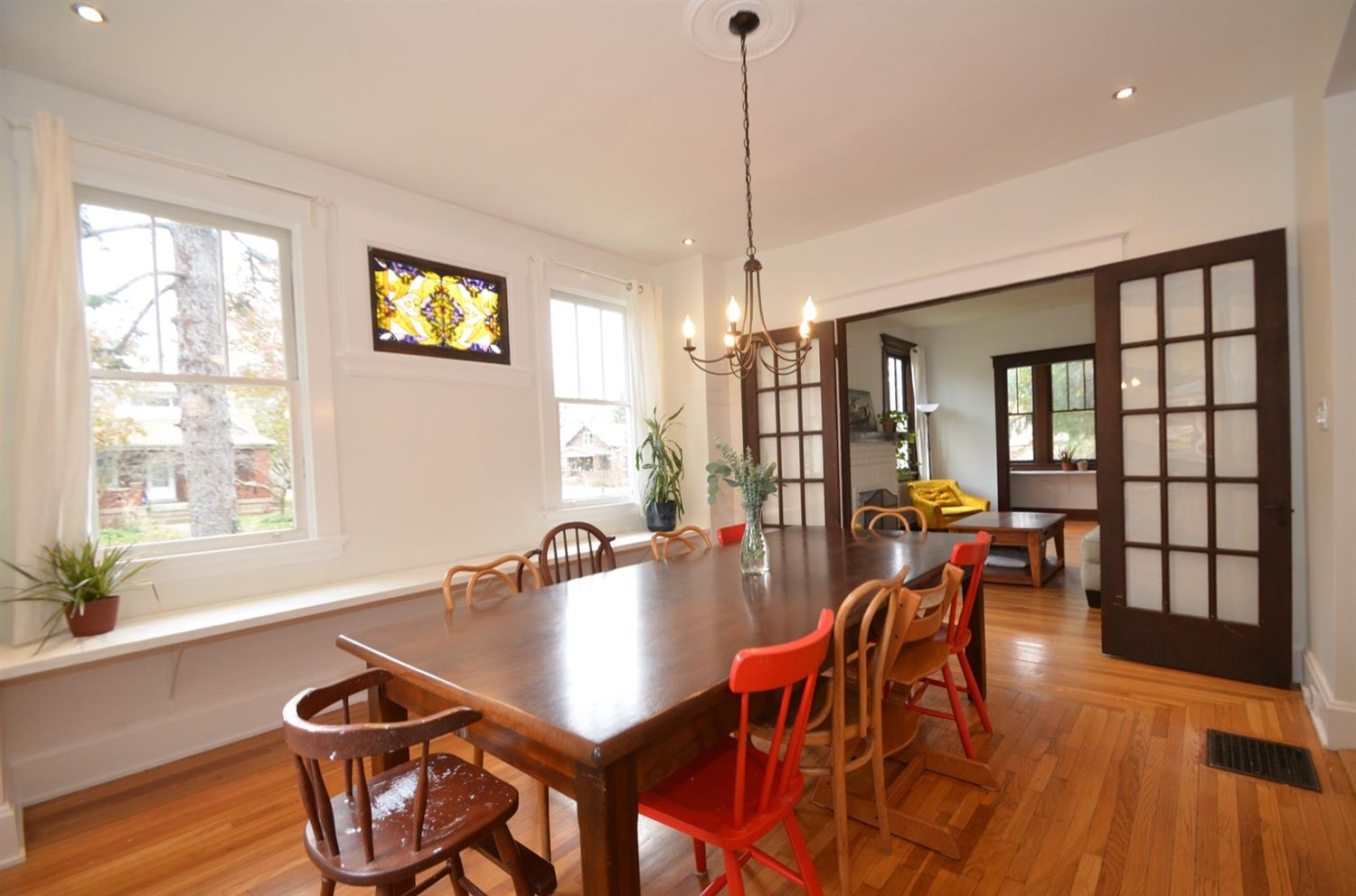 French doors are also original.   And more of those great picture frame hardwood floors.