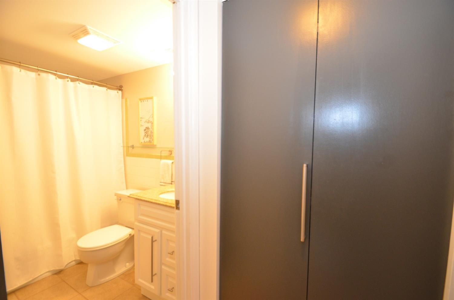 AND there is a linen closet just outside the bedroom and bathroom.
