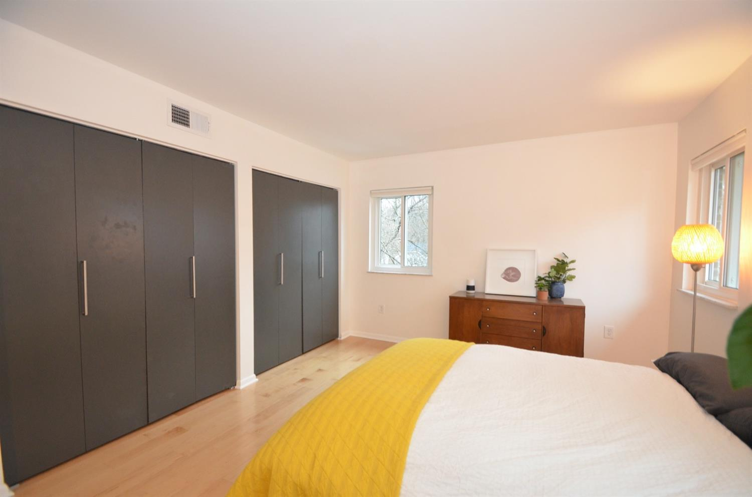 Closets are all outfitted with custom built ins.