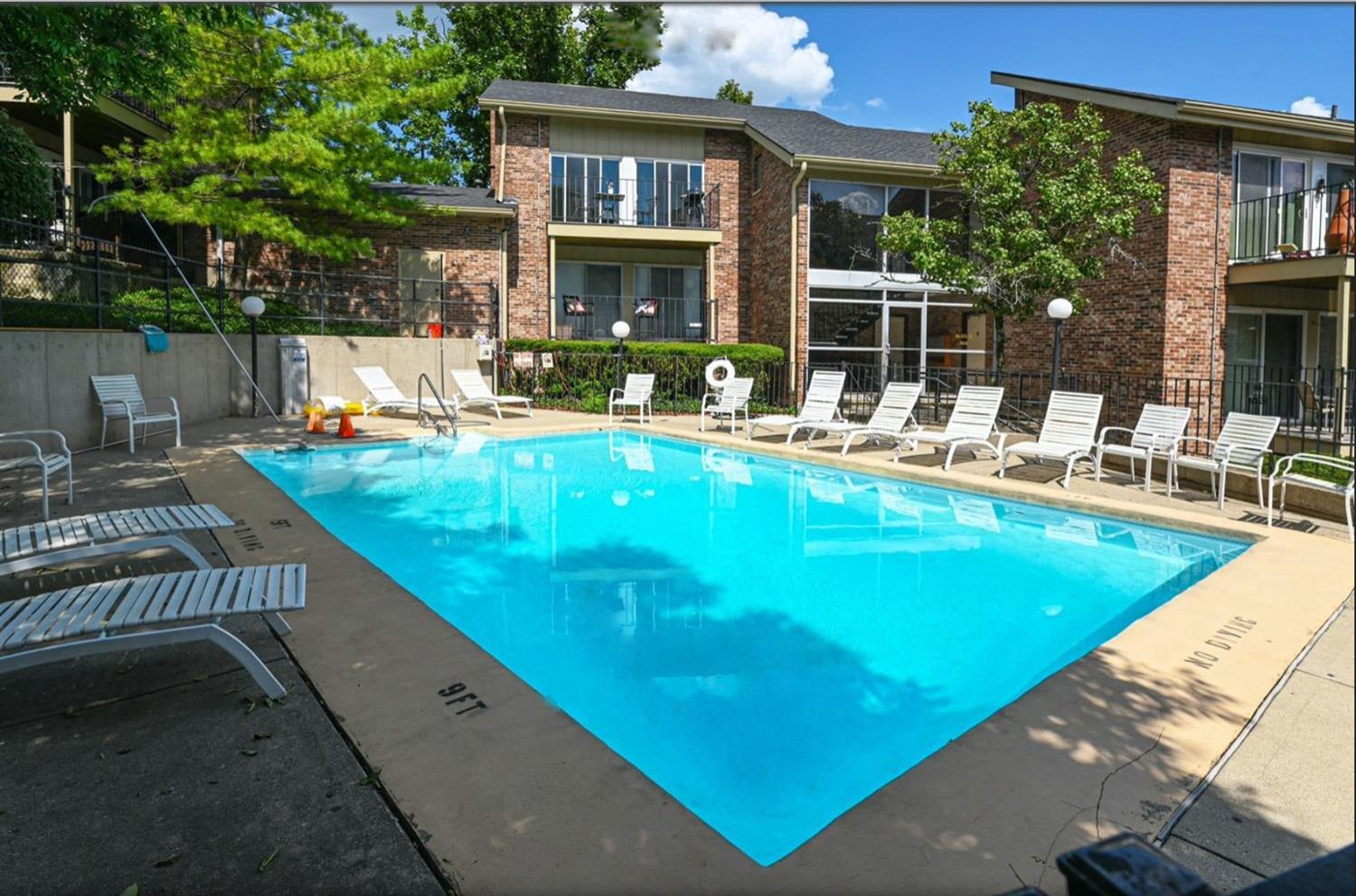 The pool is a fabulous central feature and is a great place for residents to relax!