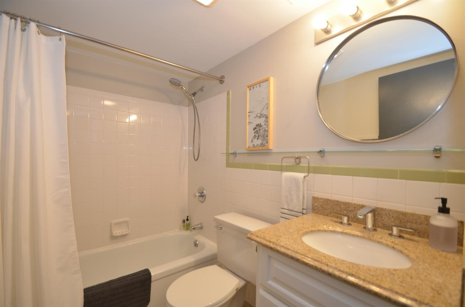 Nicely updated bath.