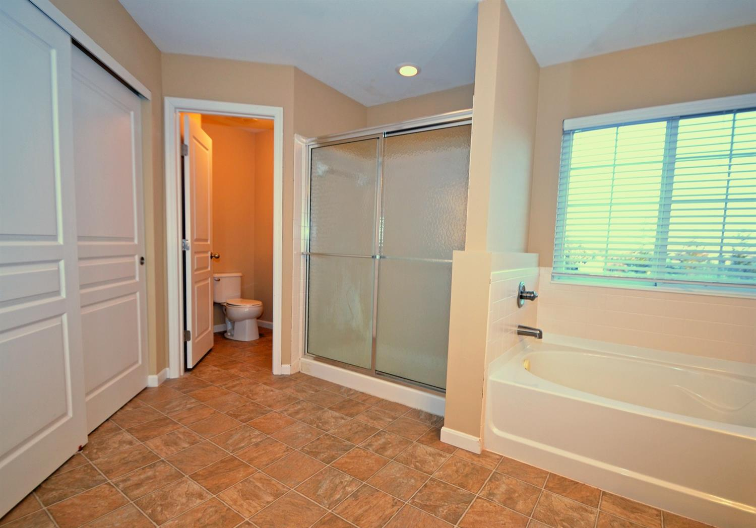 The ensuite master bath also has a separate water closest and the SECOND walk-in closet.