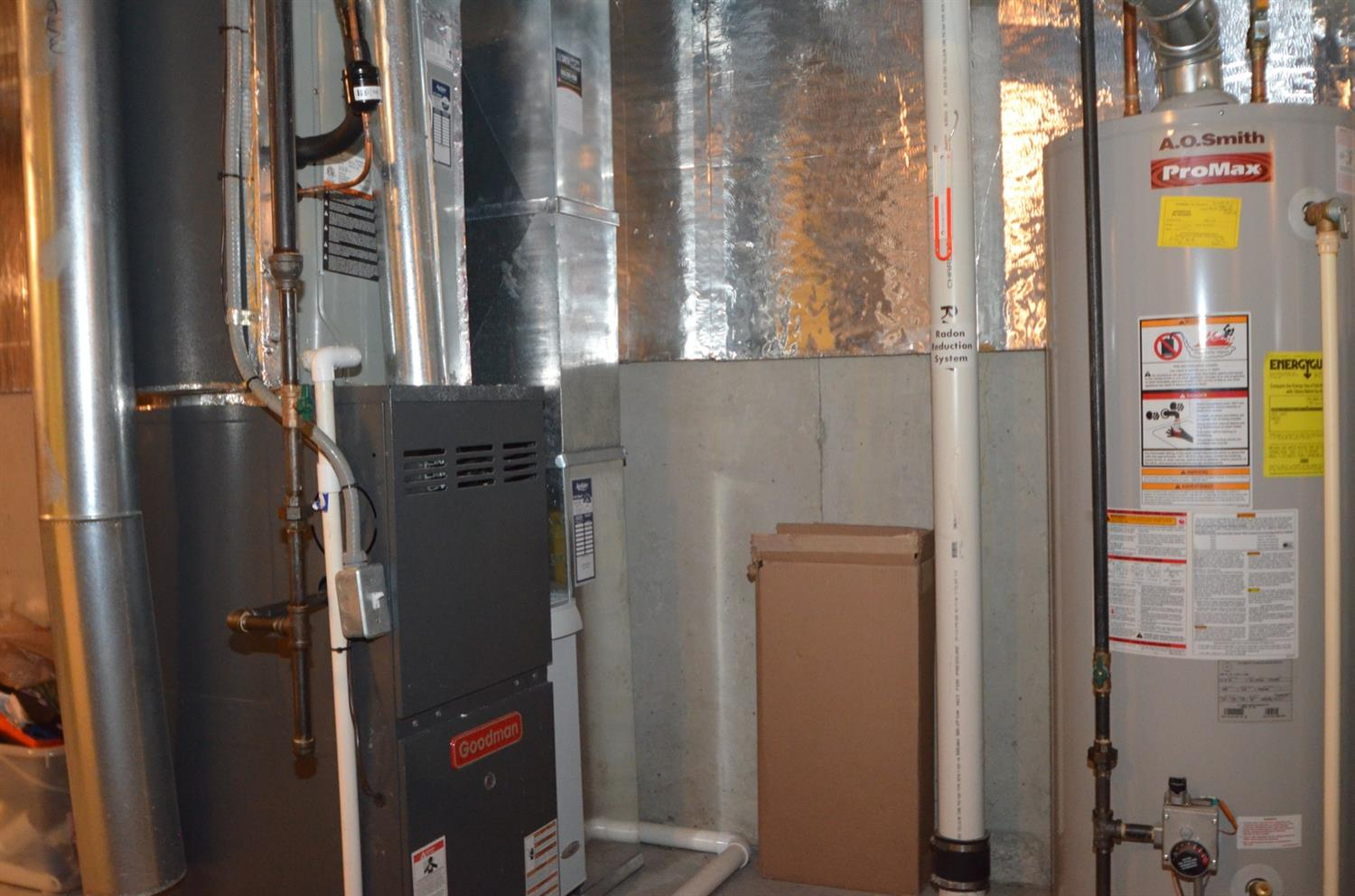 The home's mechanicals also include a battery-backup sump pump.