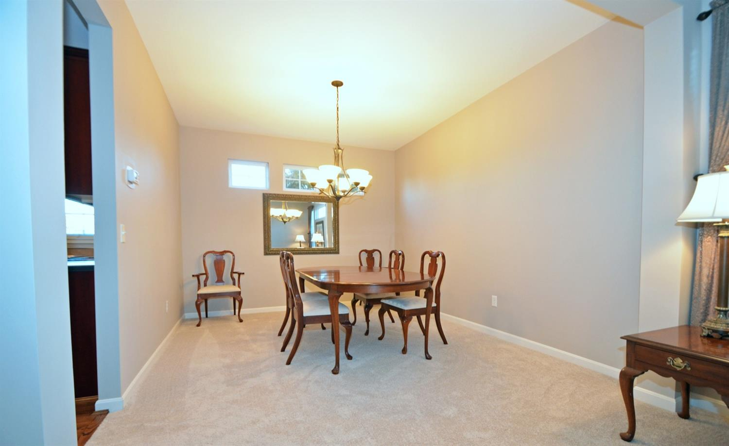 How wonderful to have a formal dining room. A room that is often neglected in such an open plan home.