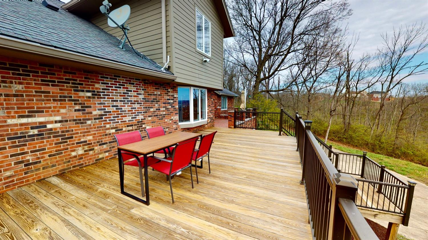 Wrap around deck with a view