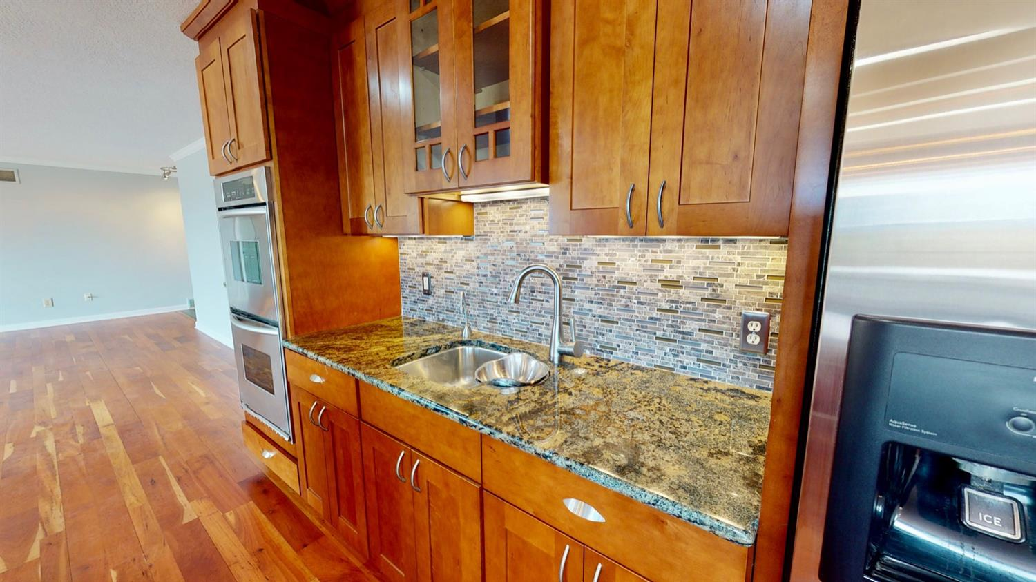 Separate prep sink compete with second garbage disposal and integrated bowls