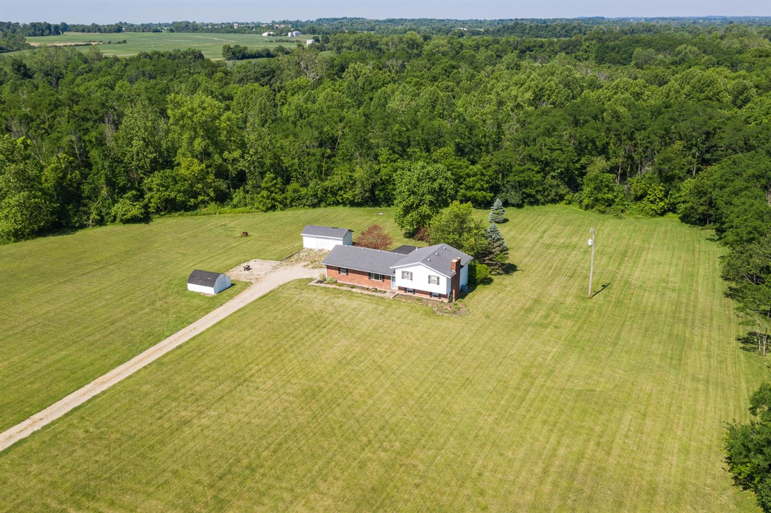 78 acres of beauty! 34 tillable acres, wonderful wooded area and great house and yard.  Newer roof and heat pump. Study could be used as a 4th bedroom. Tillable acres are under current tenant rights for 2020.