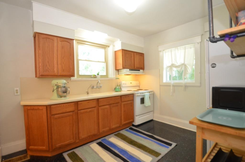 Equipped kitchen includes all appliances.  It also has a new VCT floor.