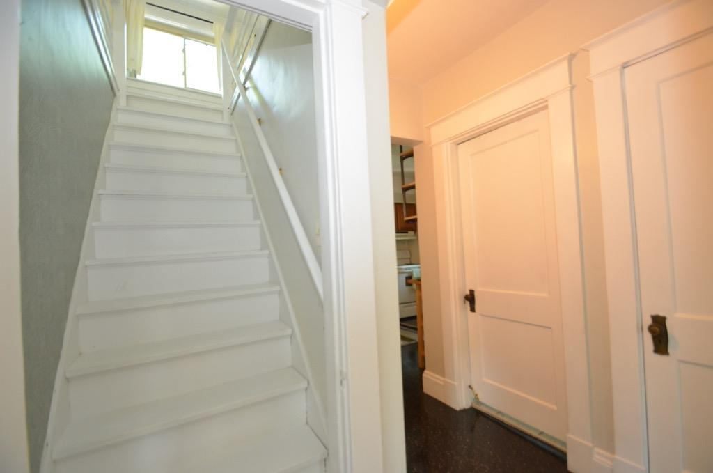 Now let's go up to the second floor.  This stairway is located behind a door on the main level in the hallway.