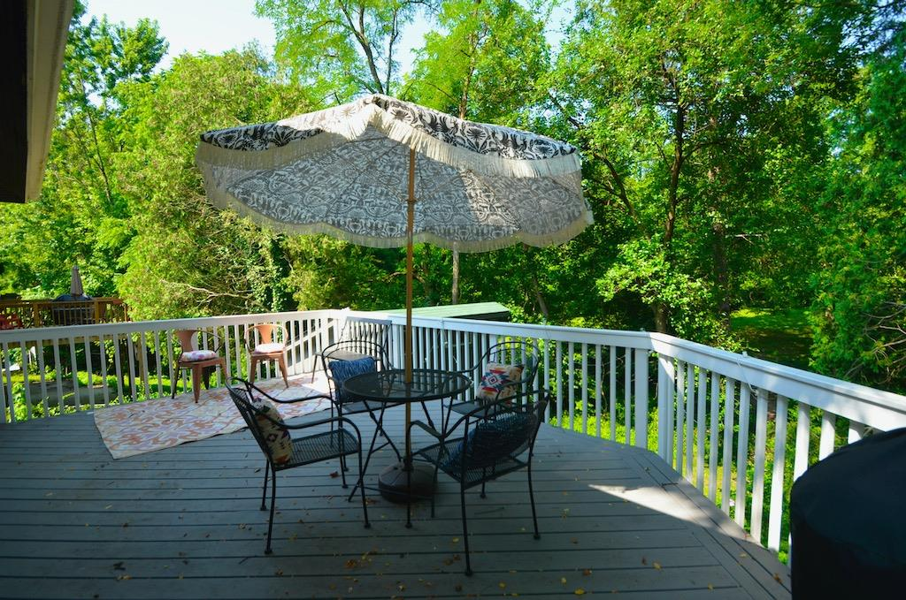 What a great place to relax with a glass of wine or your morning coffee.