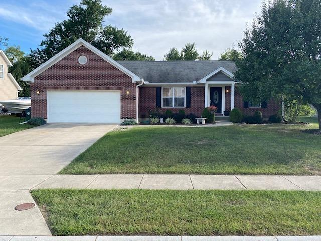 Nice brick ranch with open floor plan.Full framed basement ready to be finished with a possible 4th bedroom or office and a third full bath. Nice flat lot situated on cul-de-sac