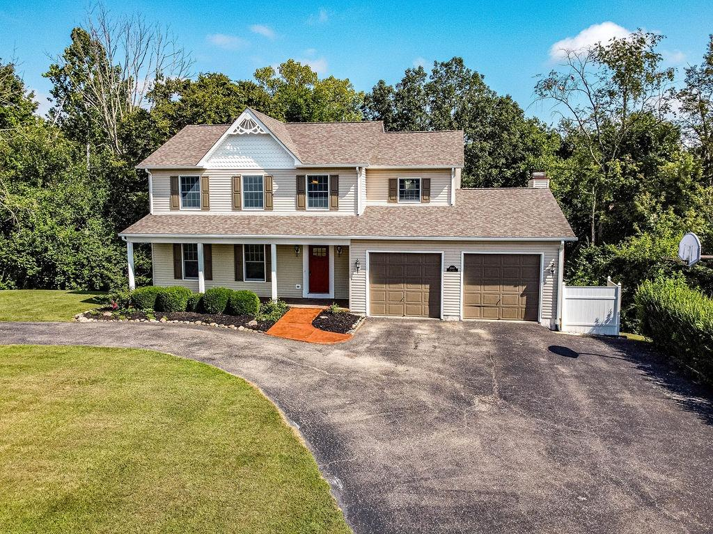 Super 2 story with 3 bedrooms, 3 1/2 baths, with full walk out bsmt w/full bath just needs flooring in bsmt  FR with fireplace walks out to deck overlooking woods. All sitting on 20 ac. Home features 20x40 inground pool with outside shower. Property is heavily wooded perfect for hunting.