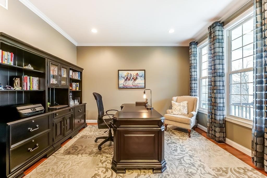 Formal study with crown molding