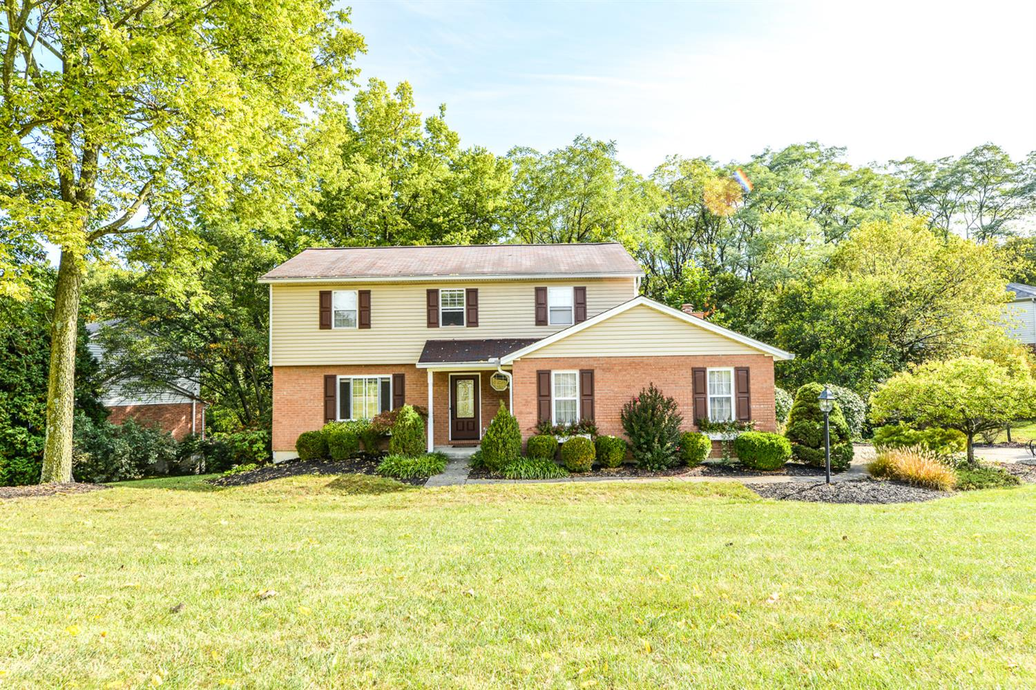 Great value in West Chester for this 4BR home on almost 1/2 acre lot! Move-in, kitchen & baths already remodeled! HVAC '20, water heater '18. Open family room/kitchen, wired for home theater, gas fireplace. Unfinished basement w/walkout. Master BR has attached 2nd bedroom, sitting area, skylights, custom tiled shower, w/in closet.