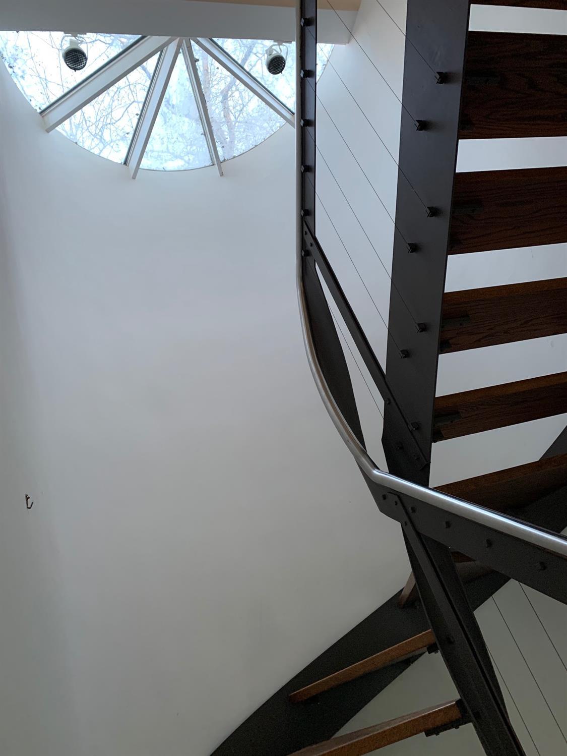 Stairway skylight detail.