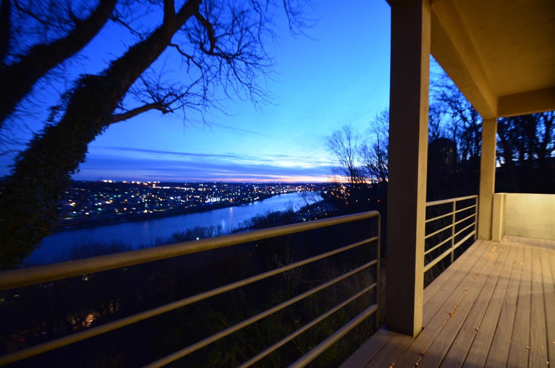 Twilight river view.