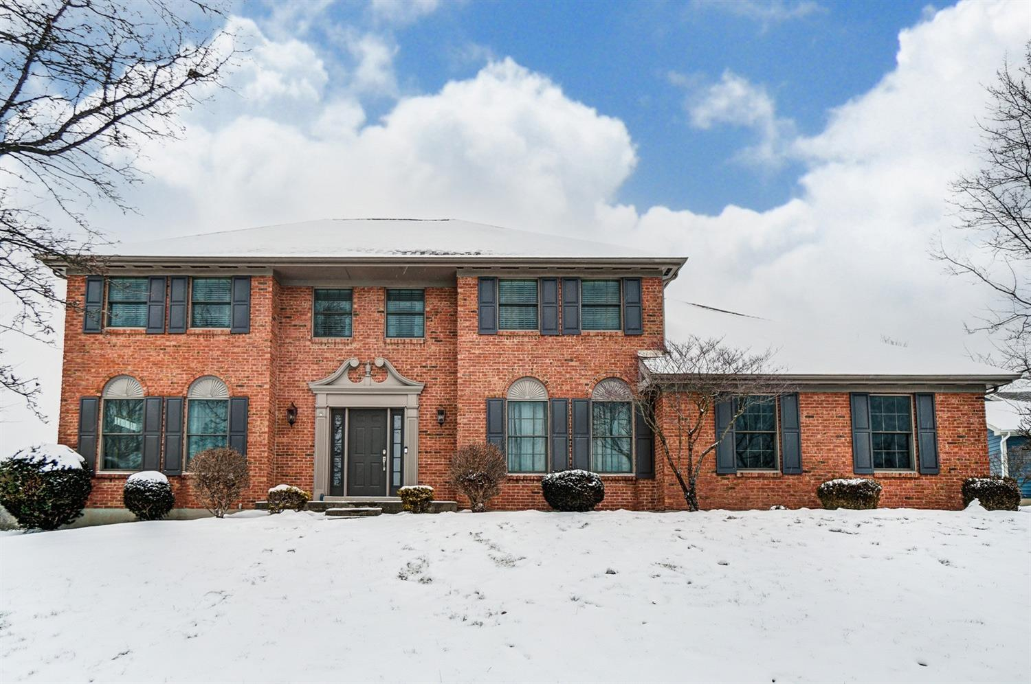 Great Open floor plan & tiered deck with huge fenced yard make it perfect for entertaining. 2 story brick over 3,300 finished sq Ft w/Fin LL! Large master suite includes walk-in closet, sitting room/study & beautifully updated en-suite bath. Updated kitchen w/SS appliances, planning desk, granite countertops. Mudroom & half bath just remodeled!  Near shopping & recreation. Reviewing all offers Sun2/21 @8pm-seller res rt to accept at any time once Active.