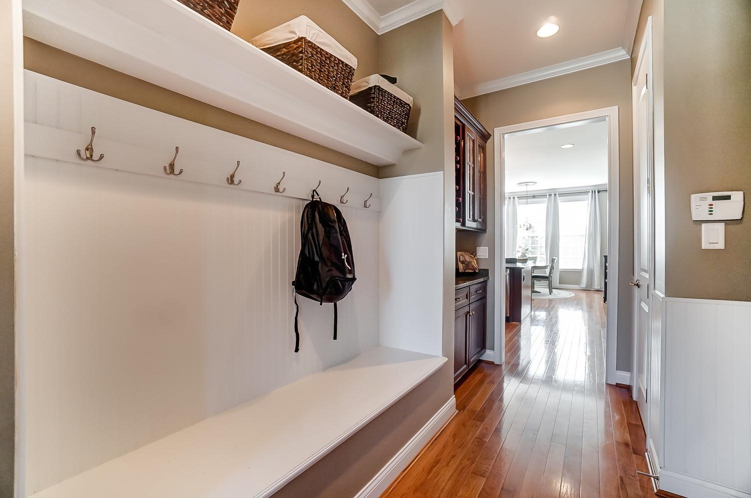 Nice cubby area as you walk in from garage - perfect landing spot for backpacks and coats!