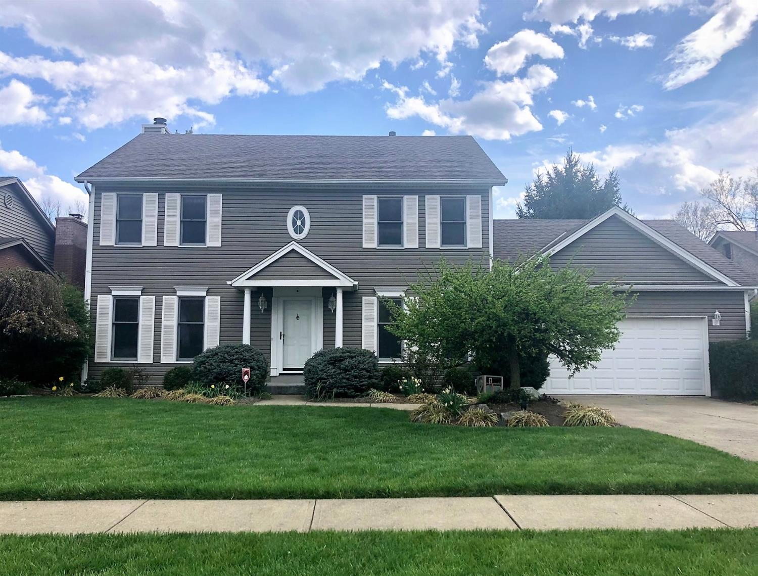 Fantastic home w/many updates like new bamboo flrs in '19, new carpet upstairs in '21, finished LL has a den w/gas fp, 4th bdrm, full bath + lots of closets/storage! Dining room has a gorgeous bar w/granite for entertaining! What a back yard - equipped with large trex deck, hot tub, & beautiful inground pool w/woods as your backdrop! Updated roof & siding (2010), AC (2018) & HWH (2016). Oversized garage. Offers due by Tue 4/20 at 7pm. Seller reserves the right to accept an offer at anytime prior