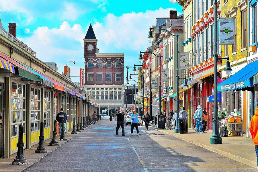 Findlay Market is a five (5) minute walk from 142 Mulberry.