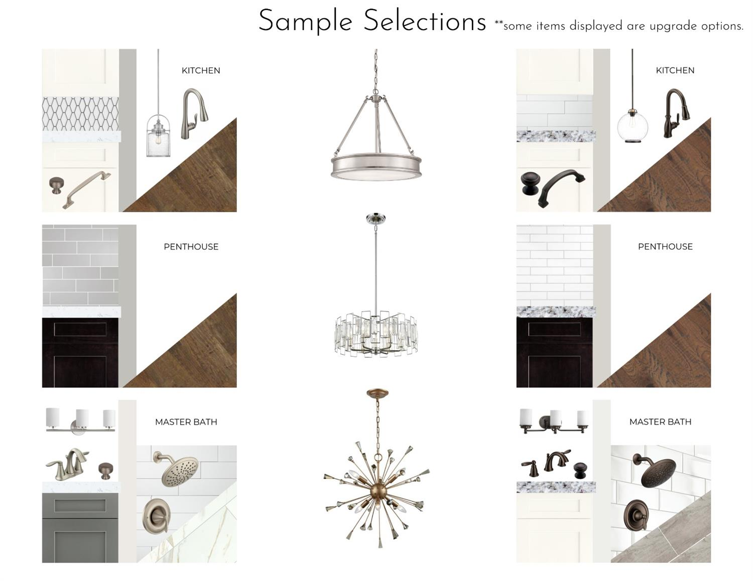 Sample selections... Your only limit is your imagination and your budget.