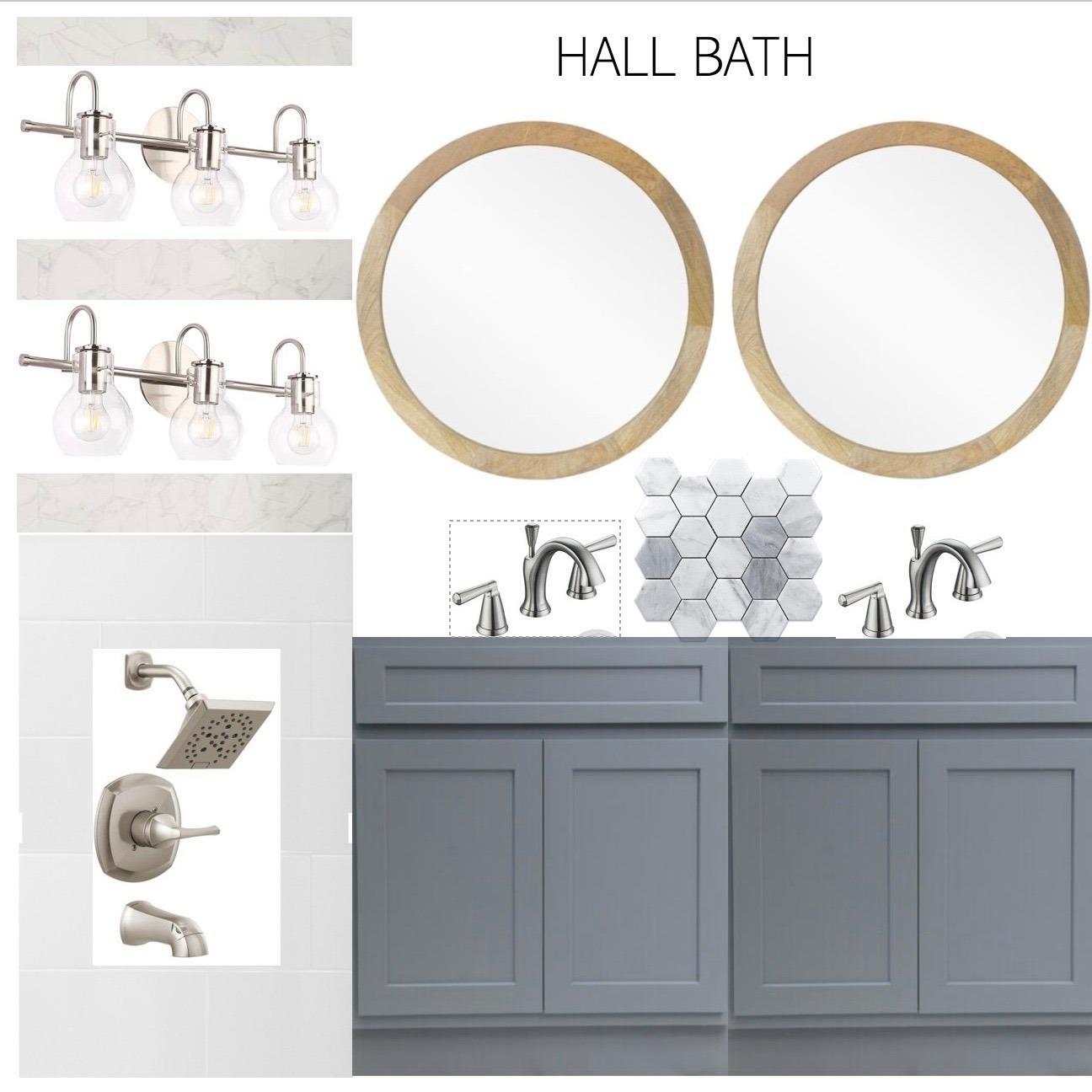 Sample hall bath selection examples.