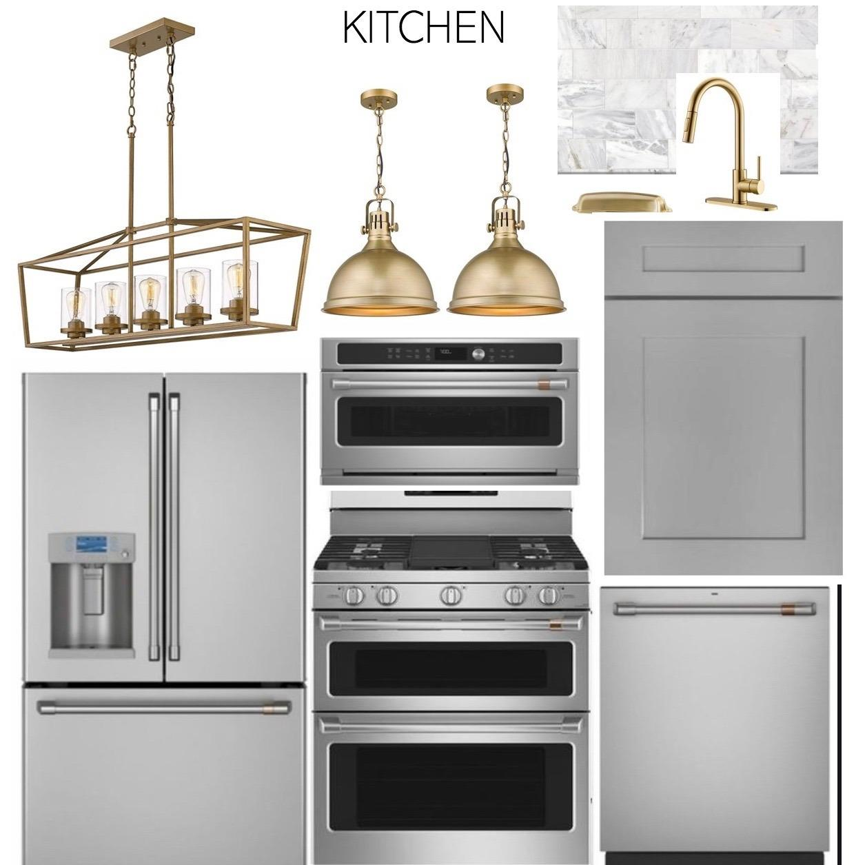 Sample kitchen selection examples.