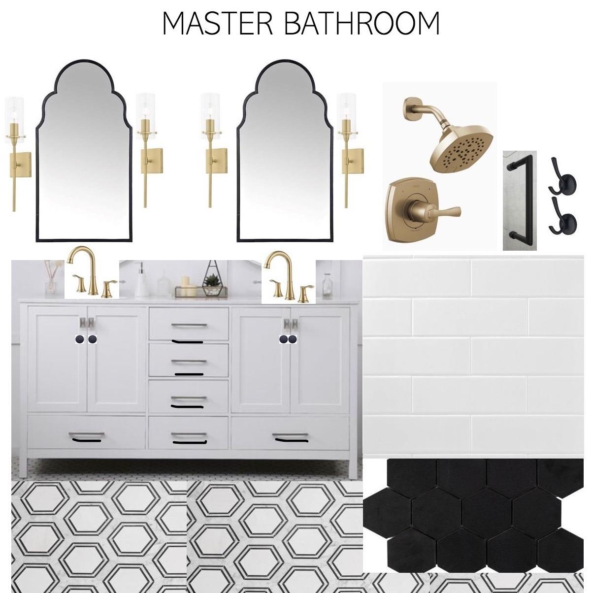 Sample master bathroom selection examples.