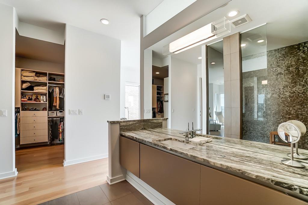 Spacious bath/vanity/dressing room area.