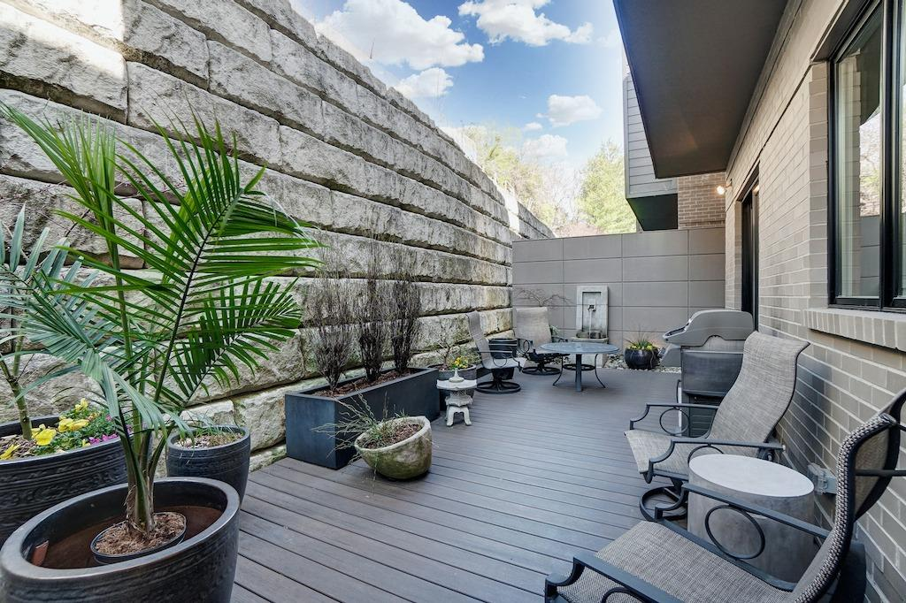 Another view of the back patio.